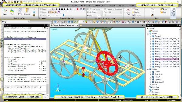 Simulación Cinemática Tang_RailHandCarInv-v8r5 con Recurdyn - RailTa - 2 de 4