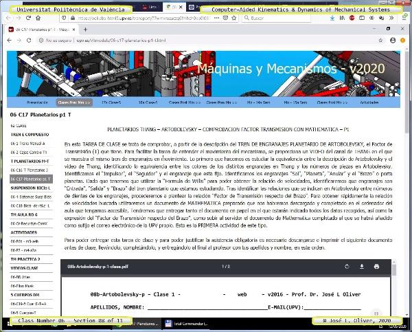 Mecánica y Teoría de Mecanismos ¿ 2020 ¿ MM - Clase 06 ¿ Tramo 08 de 11