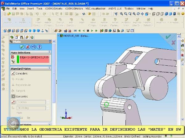Montaje de un robot ABB con Solidworks - tramo O3 de 10