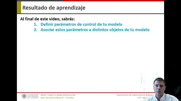 SIMIO_Video04_Crear parametros de control