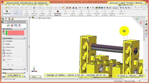 Creación Virtual Modelo Lego Technic 8862-1 ¿ Piezas 2 a 70 ¿ 20 de 36