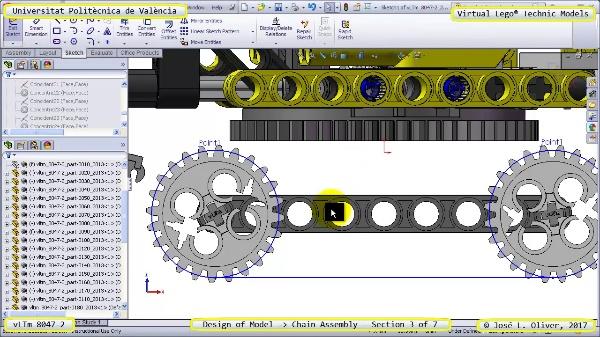 Creación Virtual Lego Technic 8047-2 ¿ Montaje de una Cadena ¿ 3 de 7