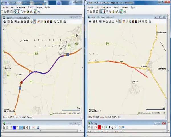 Rutas - multiple vehicle tracking