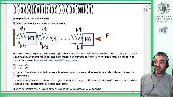 Reducción de orden: ejemplo modos vibración longitudinal de un muelle