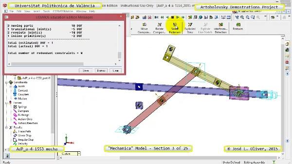 Simulación Mecanismo a-4-1553 con Mechanica - 03 de 25 - Dimensionado