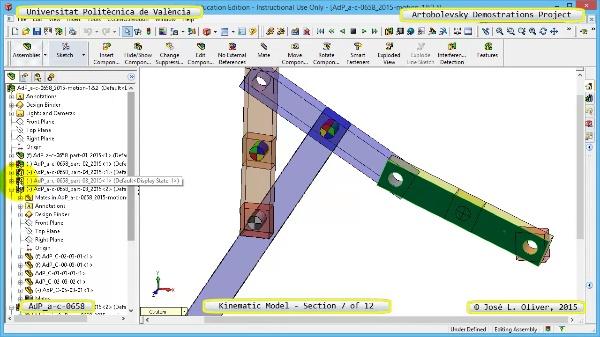Simulación Mecanismo a-c-0658 con Cosmos Motion - 07 de 12