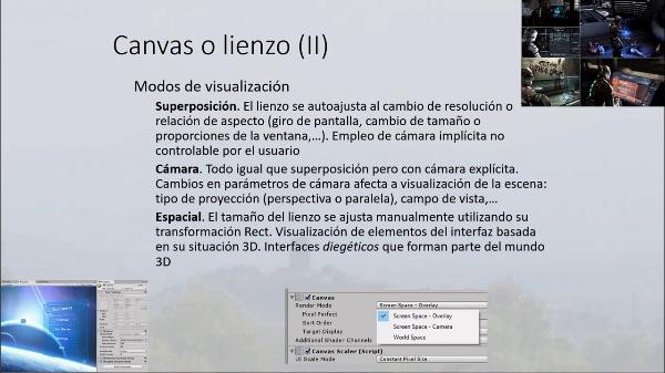 Recursos IU en Unity 3D. Canvas