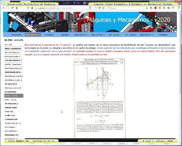 Mecánica y Teoría de Mecanismos ¿ 2020 ¿ MM - Clase 08 ¿ Tramo 03 de 13