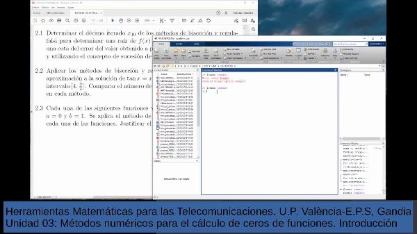 Métodos numéricos de búsqueda de ceros de funciones - 2a Clase introductoria -trabajos - parte 1