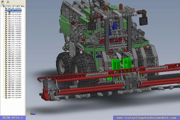 MODELO LEGO TECHNIC VIRTUAL 8274-1. LOCALIZACION PIEZAS. SECCION 1 DE 2.