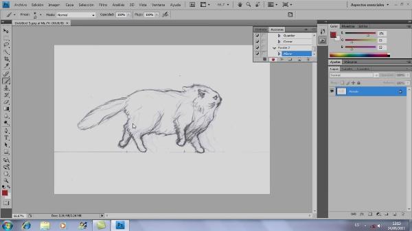 Cómo colorear dibujos para animación con Adobe Photoshop
