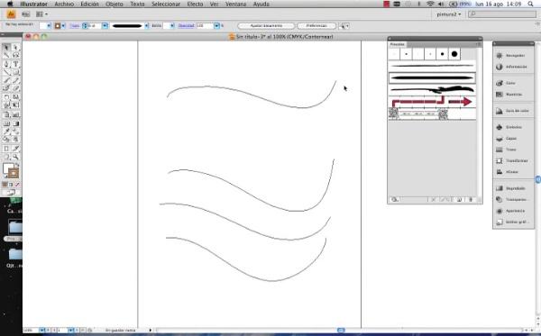Adobe Illustrator herramienta pincel parte2