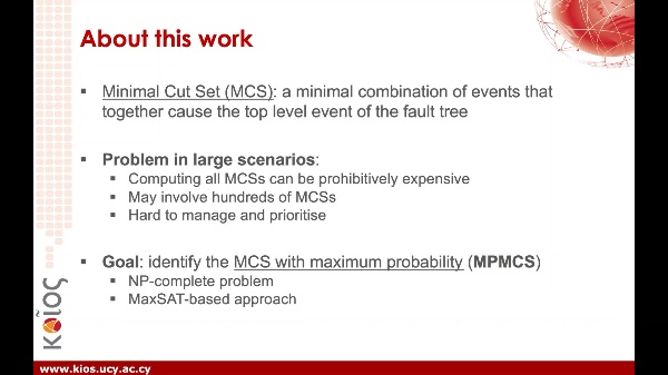 Fault Tree Analysis: Identifying Maximum Probability Minimal Cut Sets with MaxSAT