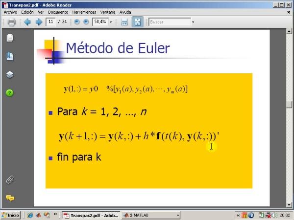 Tema 9. Sistemas de ecuaciones diferenciales. Método de Euler.