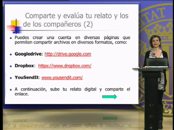 Compartir y evaluar los relatos digitales