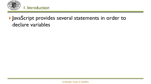 JavaScript: Scope of variables
