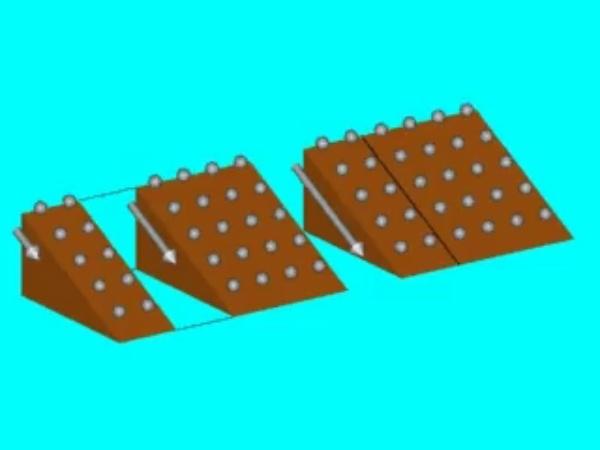 Paralelo: Analogía mecánica de la intensidad que circula por la asociación en paralelo de dos conductores  cuando se les aplica la misma diferencia de potencial