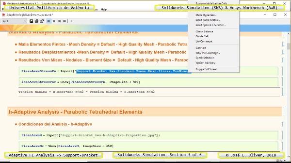 Mallado Adaptativo Pieza Mecánica con Solidworks Simulation v17 - 3 de 6