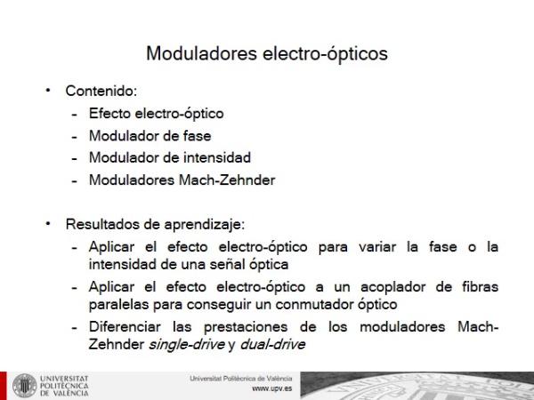 Moduladores electro-ópticos