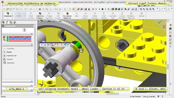 Simulación Cinemática Modelo Lego Technic 8862-1 -Cargador- 17 de 19