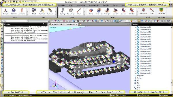 Simulación Dinámica Lego Technic 8047-1 sobre Base ¿ Parte 1 - 3 de 5