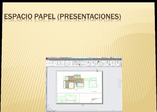 Impresión en AutoCAD mediante el Espacio Papel