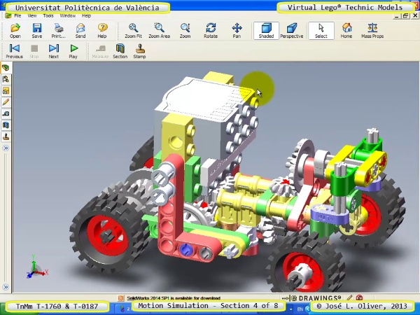 Simulación Dinámica Lego Technic T-0187 sobre Base -D- 4 de 8