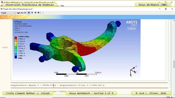 Análisis Estático Pieza Automóvil con Ansys Workbench v18 - 4 de 4