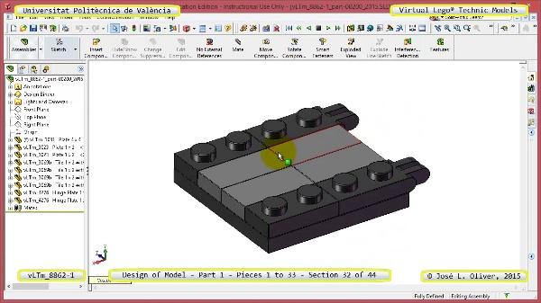 Creación Virtual Modelo Lego Technic 8862-1 ¿ Pieza 1 ¿ 32 de 44