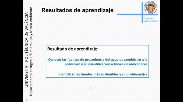 8. Procedencia del agua en los sistemas de abastecimiento