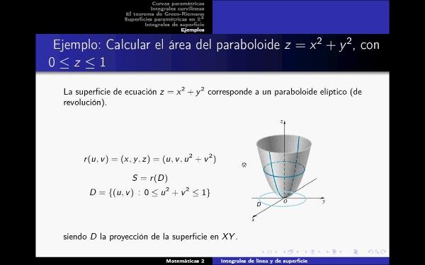 Problema cálculo área de una superficie