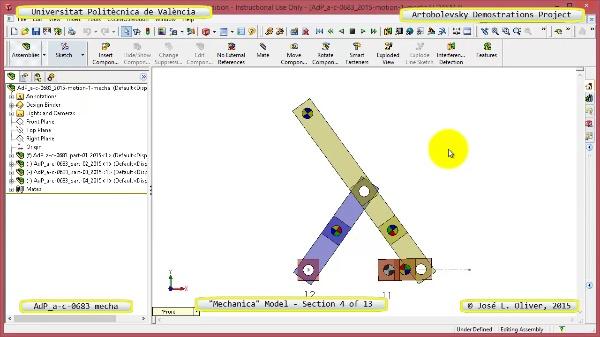 Simulación Mecanismo a-c-0683 con Mechanica - 04 de 13