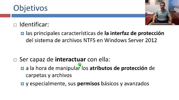 Interfaz de permisos NTFS en Windows Server 2012