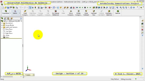 Creación Virtual Mecanismo a-c-0658 con Solidworks - 07 de 10