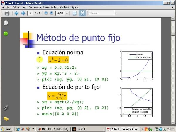 Tema 3. F(x)=0. El método de punto fijo (1/3).