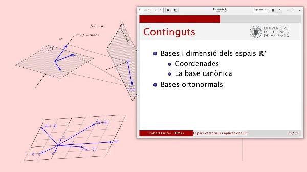 Coordenades d'un vector respecte a una base i bases ortonormals en Rn