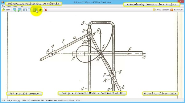 Creación Virtual y Simulación Mecanismo a-z-1138 con Cosmos Motion - 02 de 12