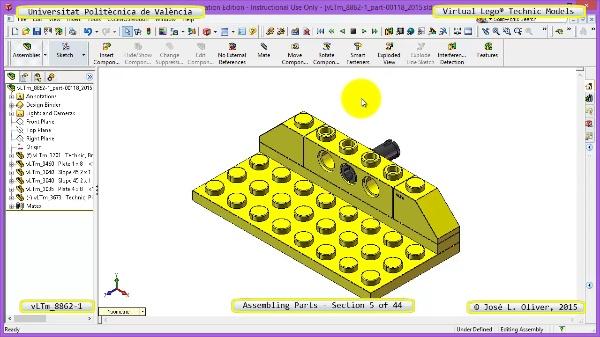 Creación Virtual Modelo Lego Technic 8862-1 ¿ Montaje Modelo ¿ 05 de 44