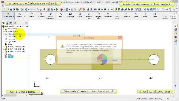 Simulación Mecanismo a-c-0658 con Mechanica - 04 de 16 - Parametrización