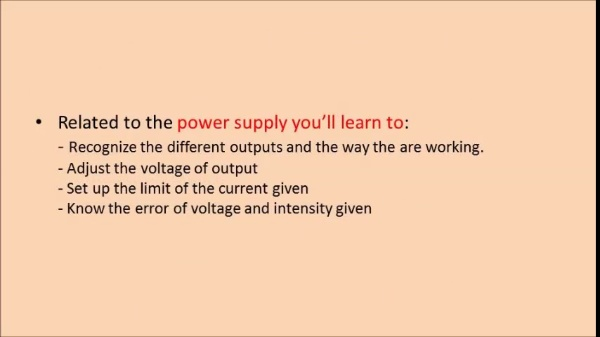 Operation of power supply and function generator