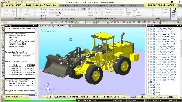 Simulación Dinámica de Cargadora Volvo L70C con Recurdyn V8R5 - 09 de 10