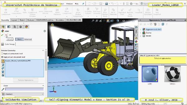Simulación Dinámica de Cargadora Volvo L70C con Solidworks Motion v2017 - 15 de 16