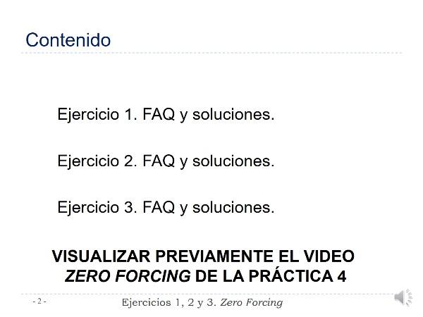 Práctica 4 Comunicaciones Digitales. Ejercicios 1, 2 y 3. Zero forcing