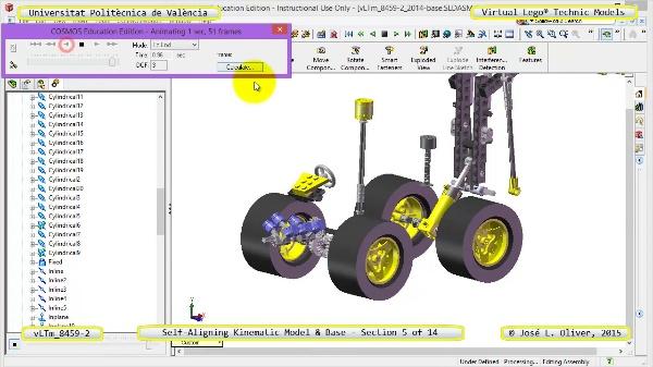 Simulación Dinámica Lego Technic 8459-2 sobre Base ¿ 05 de 14