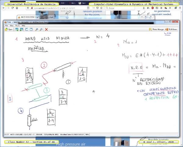 Mecánica y Teoría de Mecanismos ¿ 2020 ¿ MM - Clase 12 ¿ Tramo 05 de 08