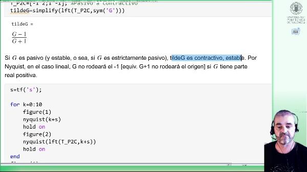 Transformaciones pasivo-contractivo (ejemplo Matlab)