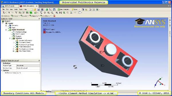 Condiciones de Contorno Análisis Estático Componentes Lego Technic - 1 of 2