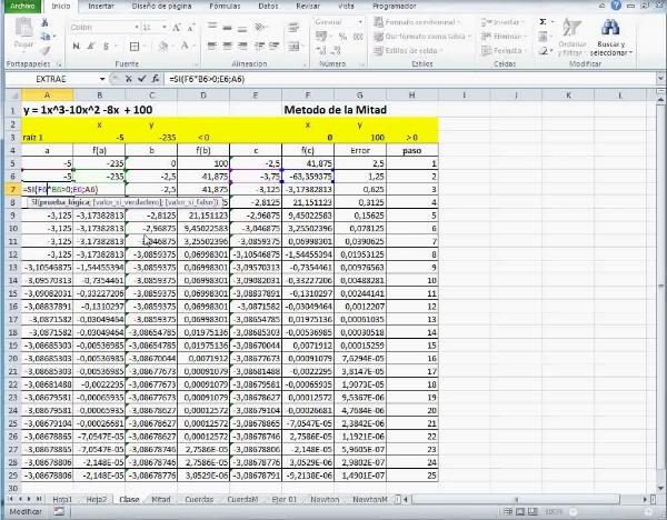 MN-EA-08-03 Método de la Mitad con Excel B