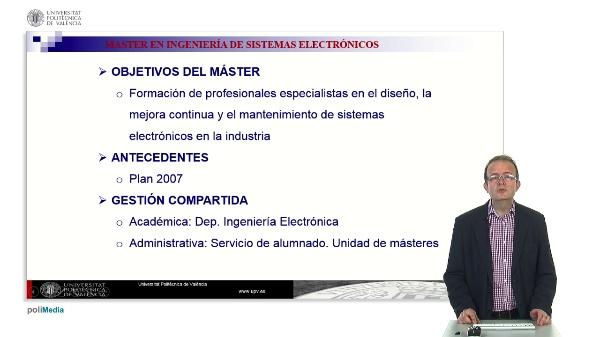 Máster en Ingeniería de Sistemas Electrónicos