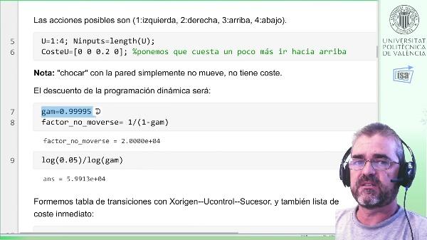 Ejemplo Matlab Programación Dinámica (3): laberinto 2D, iteración de valor (policy iteration)